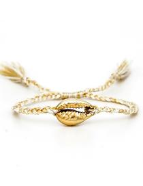 Fashion Gold Natural Shell Gold-plated Tassel Bracelet