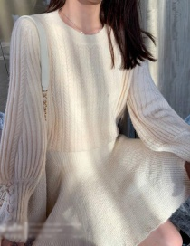 Fashion White Knitted Tassel Pullover Sweater