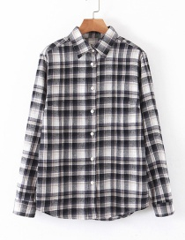 Fashion Color Cotton Plaid Shirt