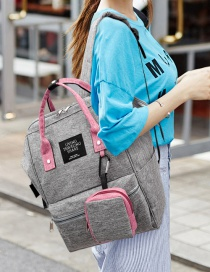 Fashion Dark Gray With Powder Canvas Mother Backpack