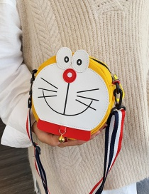 Fashion Yellow Cartoon Cat Canvas Shoulder Messenger Bag