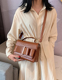 Fashion Caramel Colour Bow Chain Messenger Tote