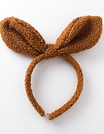 Fashion Brown Plush Rabbit Ears Headband