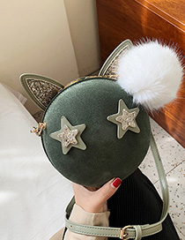 Fashion Green Matte Crossbody Bag