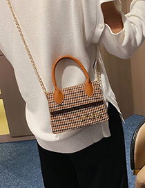 Fashion Yellow Chain Shoulder Messenger Bag