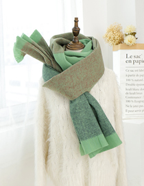 Fashion Dark Green Thick Woolen Collar
