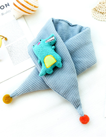 Fashion Sky Blue Crocodile Triangle Scarf Baby Scarf