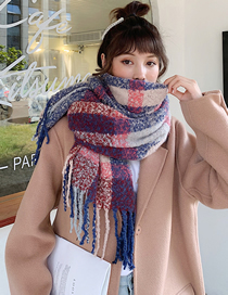 Fashion Lattice Thick Plaid Shawl Collar