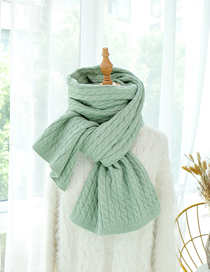 Fashion Bean Green Twist Triangle Color Matching Knit Collar