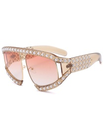 Fashion Local Gold Pearl Sunglasses