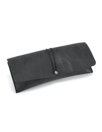 Fashion Matte Black Leather Glasses Case