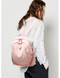Fashion Pink Contrast Shoulder Bag  Pu