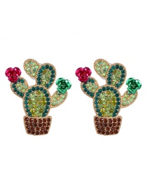 Fashion Color Cactus Earrings