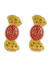 Fashion Red Vegetable Candy Stud Earrings