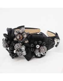 Fashion Black Gemstone Bow Headband