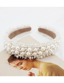 Fashion White Sewing Pearl Headband