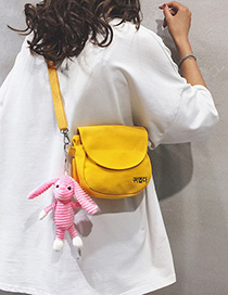 Fashion Two Yellow Without Pendant Canvas Letter Print Shoulder Crossbody Bag