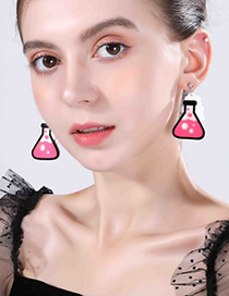 Fashion Pink Measuring Cup Earrings