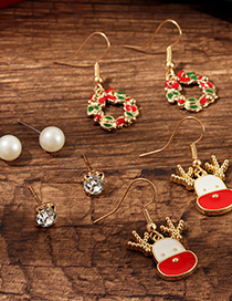 Fashion Color Christmas Cartoon Earrings