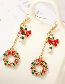Fashion Color Cartoon Garland Bow Earrings