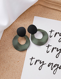 Fashion Green Irregular Geometric Bump Round Earrings