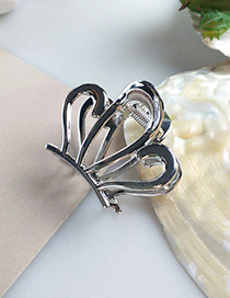 Fashion Silver Large Alloy Gripper Hair Claw