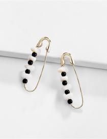 Fashion Gold Shaped Pin Natural Shell Earrings