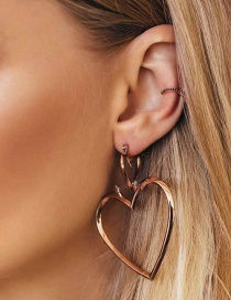 Fashion Rose Gold Love Earrings