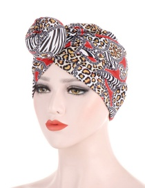 Fashion Red Leopard Point Big Ball Donut Hood
