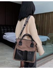 Fashion Red Contrast Broadband Portable Messenger Bag