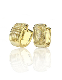 Fashion Gold Plating Gold-plated Strassed Earrings