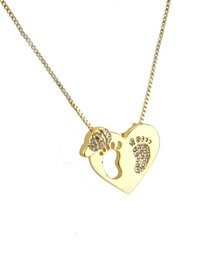 Fashion Gold Zirconium-filled Hollow Ankle Necklace