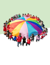 Fashion Color Rainbow Umbrella 2m (suitable For 6-8 People) Children's Outdoor Activities Rainbow Umbrella