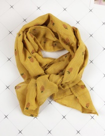 Fashion Strawberry Yellow Cartoon Print Children's Cotton Scarf