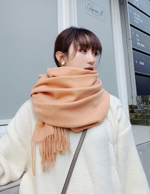Fashion Orange Imitation Cashmere Scarf Shawl Dual Purpose