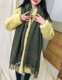 Fashion Green Houndstooth Scarf Shawl