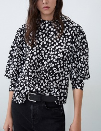 Fashion Black Printed Top