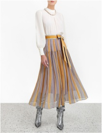 Fashion Color Striped Skirt