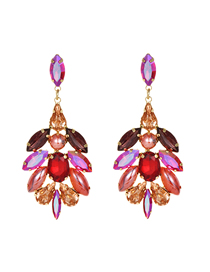 Fashion Rose Red Alloy Stud Earrings