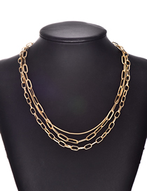 Fashion Gold Alloy Chain Multi-layer Necklace