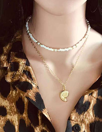 Fashion Gold Mizhu Conch Necklace