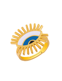 Fashion Gold Eye Drip Opening Ring