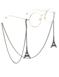 Fashion Black Hanging Neck Tower Chain Glasses Chain
