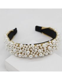 Fashion Yellow Pearl Irregular Headband