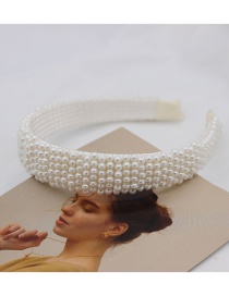 Fashion Vertical Pearl Pearl Geometric Headband