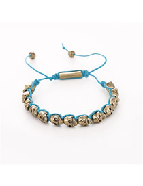 Fashion Green Alloy Woven Braided Bracelet