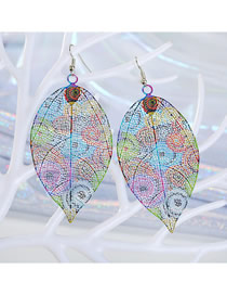Fashion Color Leaf Earrings