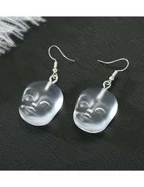 Fashion Face Resin Face Earrings