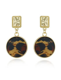 Fashion Leopard Print Drop-shaped Earrings