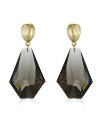 Fashion Transparent Black Transparent Geometric Resin Stud Earrings